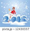 サンタ サンタクロース クリスマスのイラスト 12430337