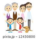 お母さん おじいちゃん おばあちゃんのイラスト 12430800