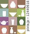 陶器いろいろ・和風イメージ 12440616