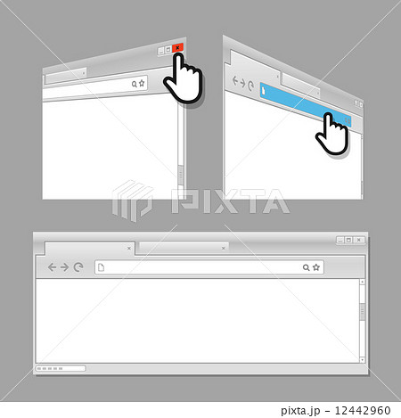 modern web browser template ready for a contentのイラスト素材