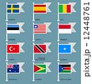 モナコ ソマリア スウェーデンのイラスト 12448761
