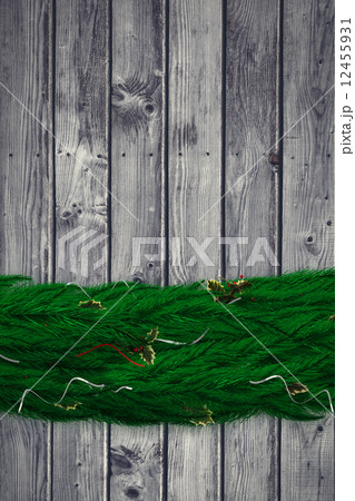 Composite image of fir branch christmas decoration garlandのイラスト素材 [12455931] - PIXTA