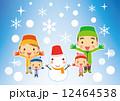 ベクター 笑顔 雪のイラスト 12464538