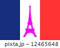 フランス国旗とエッフェル塔 12465648