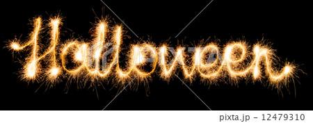 Halloween made of sparkles on blackの写真素材 [12479310] - PIXTA