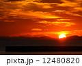 和歌浦片男波海水浴場の夕日。 12480820