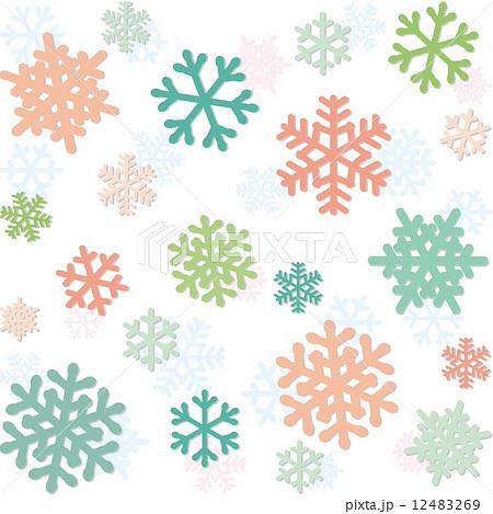 雪の結晶 パターンのイラスト素材 12483269 Pixta