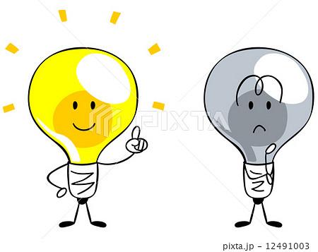 アイデア・閃き・電球のキャラクター 12491003