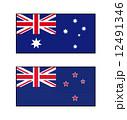 オーストラリアとニュージーランドの国旗 12491346