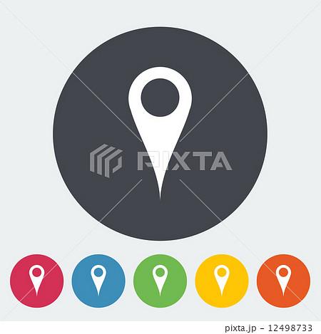 Map pointer single flat icon. 12498733