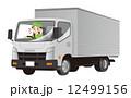 スマートフォン ながら運転 トラックのイラスト 12499156