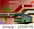 バス 街 都会のイラスト 12506798