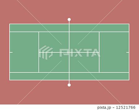 テニスコートのイラスト素材 12521766 Pixta