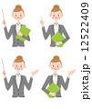 OL ビジネスウーマン ベクターのイラスト 12522409