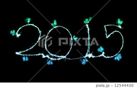 Happy New Year - 2015 made a sparklerの写真素材 [12544430] - PIXTA