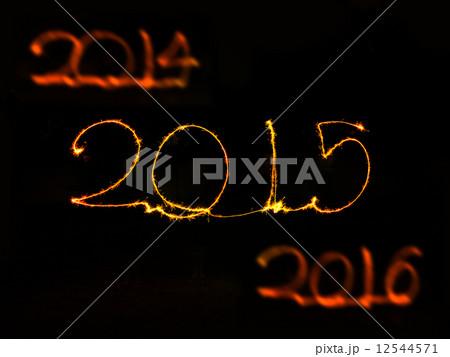 Happy New Year - 2015 sparklerの写真素材 [12544571] - PIXTA