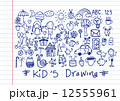 kids and children's hand drawings 12555961