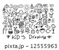 kids and children's hand drawings 12555963