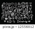 kids and children's hand drawings 12556012