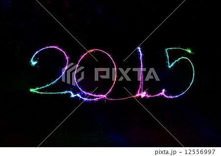 Happy New Year - 2015 sparklerの写真素材 [12556997] - PIXTA