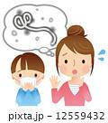 エボラ 病原菌 女性のイラスト 12559432