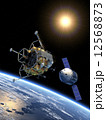 ドッキング 乗り物 探検のイラスト 12568873