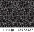 Black and White People Seamless Background Pattern 12572327