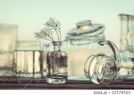 Still Life of Different Glassware - vintage styleの写真素材 [12579503] - PIXTA