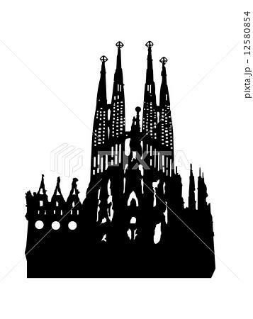 サグラダ ファミリア 世界の建築物のイラスト素材