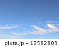 秋 雲 青空の写真 12582803