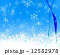 雪の結晶とリボンテープ 12582978