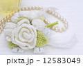 パール 手編み コサージュの写真 12583049