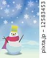 寒中 雪だるま 12583453