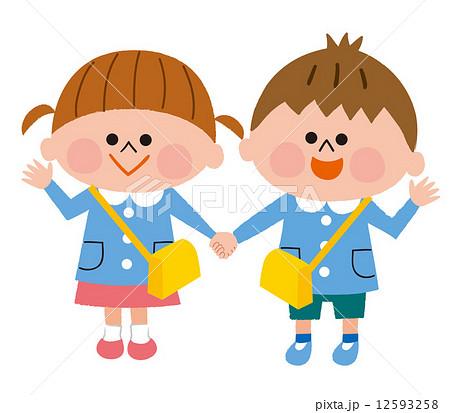 幼稚園 園児のイラスト素材 12593258 Pixta