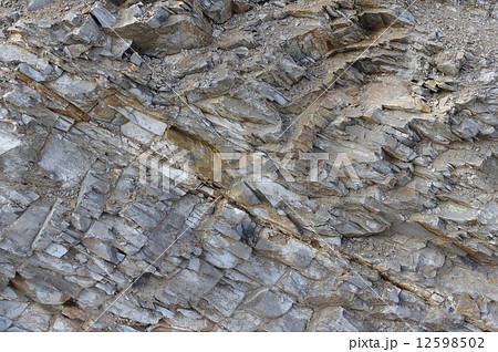 泥岩の地層(長野県松本市会田地区) 12598502