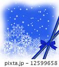 雪の結晶とリボンテープ 12599658