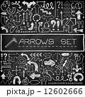 セット 落書き アイコンのイラスト 12602666