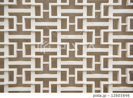 Decorative concrete fence patternの写真素材 [12603846] - PIXTA