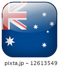 Australia national flag square button isolated on white background 12613549