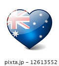 Australia 3d glass heart with realistic shadow isolated on white 12613552