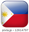 Philippines national flag square button isolated on white background 12614797