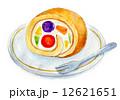 ロールケーキ 水彩 ケーキのイラスト 12621651