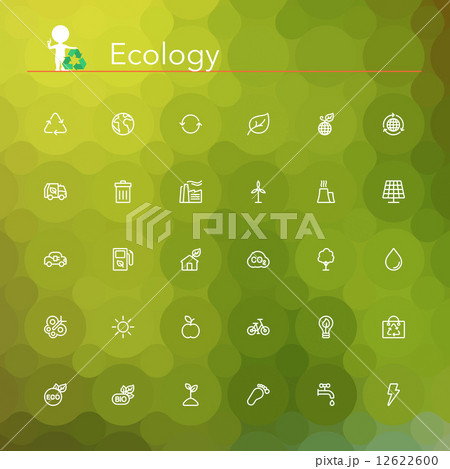 Ecology Line Icons 12622600