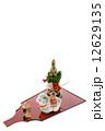 未年 正月飾り 縦 12629135