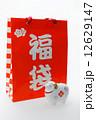 正月飾り 紙袋 袋の写真 12629147