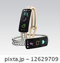 ダイヤの装飾があるスマートバンド、女性向けデジタルアクセサリーのコンセプト 12629709
