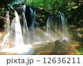 兵庫県新温泉町 光芒と滝と虹 12636211
