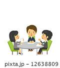 ビジネスシーン ミーティング ベクターのイラスト 12638809