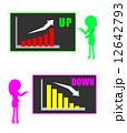 説明 グラフ 女性のイラスト 12642793