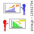 説明 グラフ 女性のイラスト 12642794